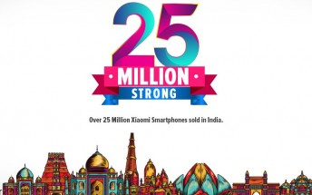 Xiaomi surpasses 25 million smartphone sales in India