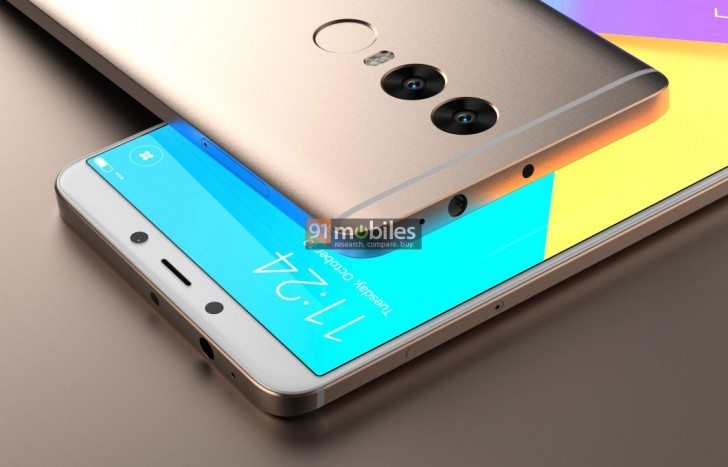 Alleged Xiaomi Redmi Note 5 renders show dual camera setup