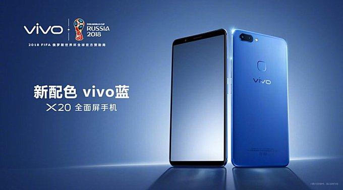 vivo x20 gets a new color option blue gsmarena com news