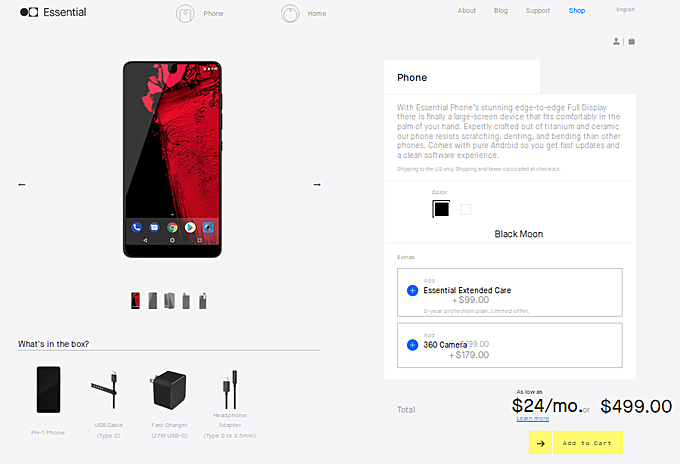 Essential Phone price slashed $200 after two months