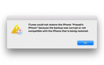 Here's how to deal with iTunes' corrupted or incompatible backup error