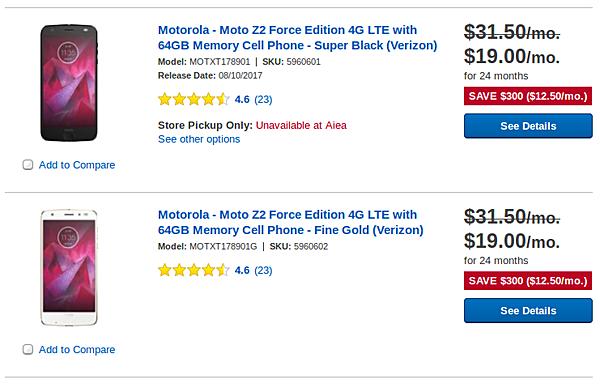 Motorola Moto Z2 Force drops to around $450 in US - GSMArena com news