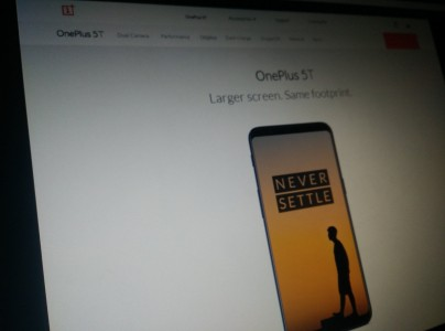 (Rumored) OnePlus 5T tagline: \