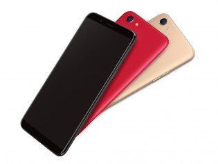 Oppo F5's three colors