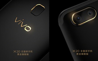 Black and Gold vivo X20 launched in China