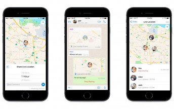 WhatsApp rolls out live location sharing for Android and iOS