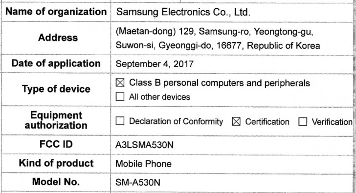 Samsung Galaxy A5 2018 Swings By Fcc Ahead Of Imminent Launch