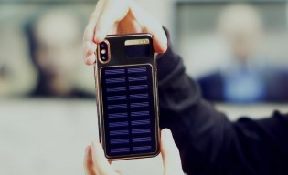 caviar introduces iphone x tesla with solar panel on the. Black Bedroom Furniture Sets. Home Design Ideas