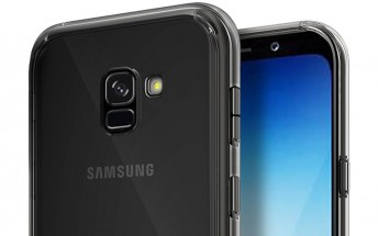 Samsung Galaxy A5 (2018) shows off its Infinity Display in a case