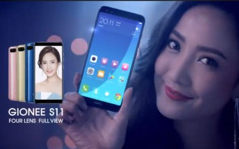 Gionee S11 officially teased: Four cameras, Full view