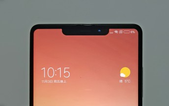 Spy shots of Xiaomi Mi Mix 2s show an iPhone X-style cutout