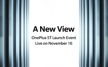 It's official: OnePlus 5T will be announced on November 16, available on November 21