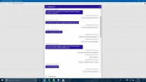 Screenshots of the chats with Samsung reps