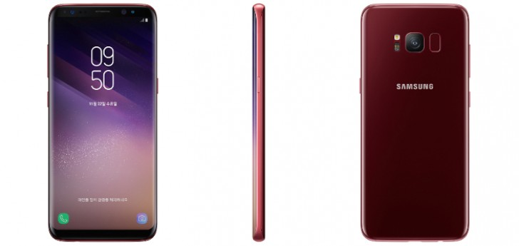 Samsung officially launches Burgundy Red Galaxy S8