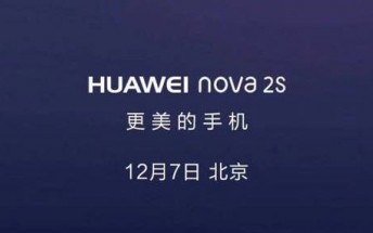 Huawei Nova 2S unveiling set for next week