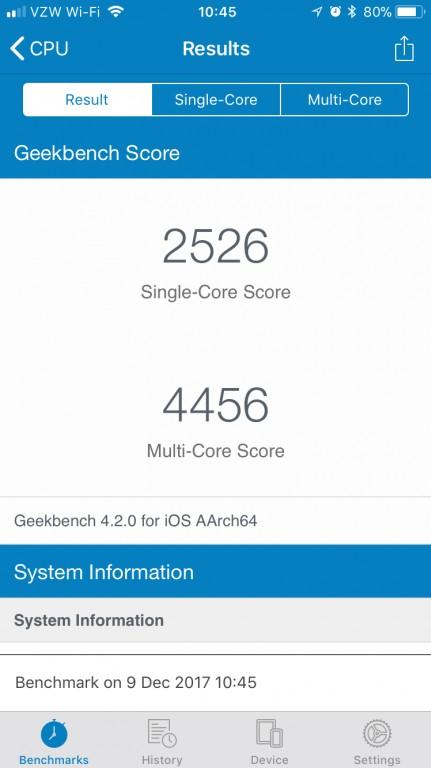 iPhone 6s更换电池后的测试结果