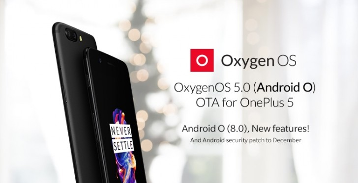 OnePlus 5 gets Android 8.0 Oreo update on Christmas eve