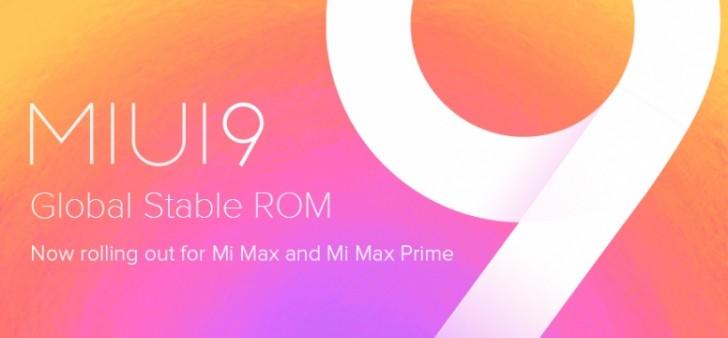 Xiaomi Mi Max and Mi Max Prime get global MIUI 9