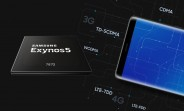 Exynos 7872 unveiled: hexa-core CPU with A73 cores, plus an iris scanner