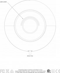Apple HomePod FCC ID label location