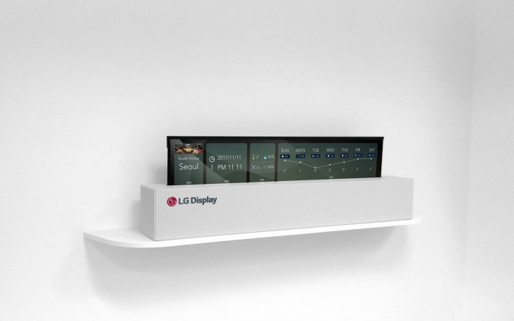 "LG showcases new rollable 65"" OLED display - GSMArena com news"