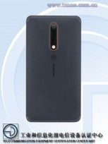 Nokia 6 (2018) back panel on TENAA