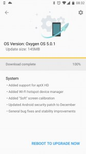 Oxygen OS 5.0.1 for OnePlus 3 and 3T