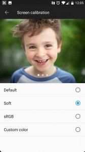 New screen calibration mode: Soft