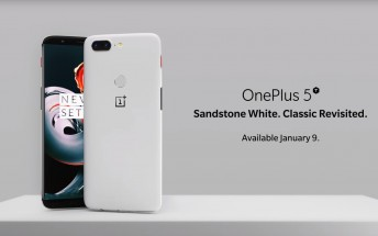 OnePlus 5T Sandstone White is finally official