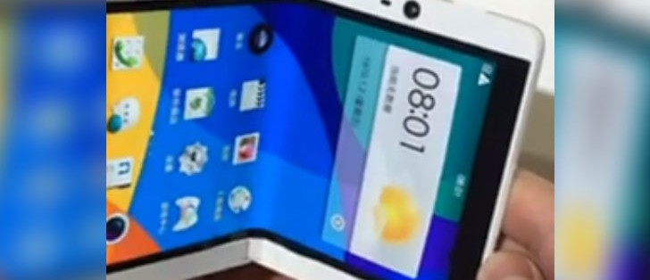 Oppo patents foldable smartphone with a single display