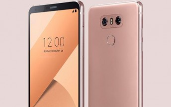 Pink (Raspberry Rose) LG G6 gets pictured