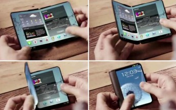 Samsung showcased foldable display phones behind closed doors at CES 2018