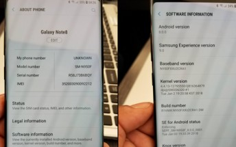 Samsung Galaxy Note8 Oreo update starts seeding