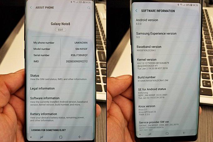 Samsung Galaxy Note8 Oreo update starts seeding - GSMArena