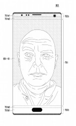 Patent drawings of putting the selfie camera, earpiece and sensors behind the screen