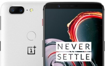 Sandstone OnePlus 5T listing confirms white color,  8GB/128GB memory