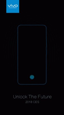 Vivo's teaser for the first phone with an in-screen fingerprint reader