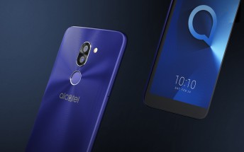 alcatel 3-series phones unveiled: sub-€200 price tag for 18:9 screens and dual cameras