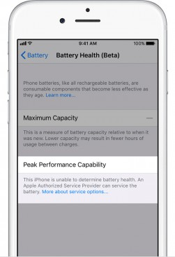 Battery health unknown