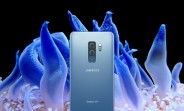 Samsung Galaxy S9+ in Coral Blue swims to the surface