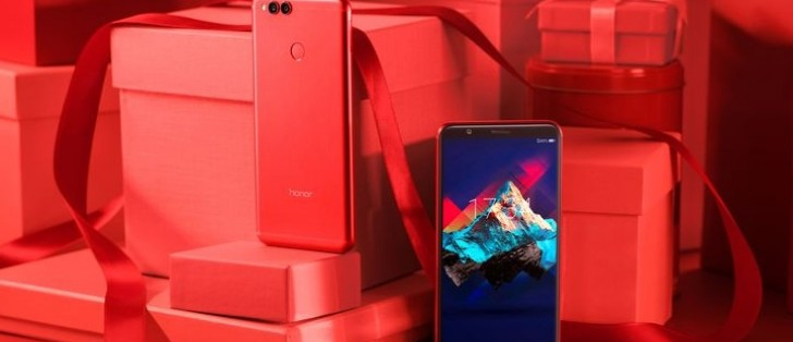 huawei launches red honor 7x internationally adds a gray color too