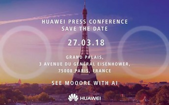 Huawei confirms three-cam Huawei P20 with its latest press invite