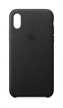 iPhone X leather case in Black