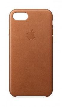 iPhone 8 leather case in Saddle Brown