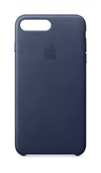 iPhone 8 Plus leather case in Midnight Blue