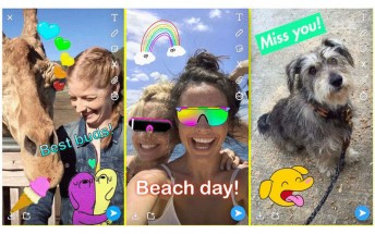 Snapchat integrates GIF stickers from Giphy