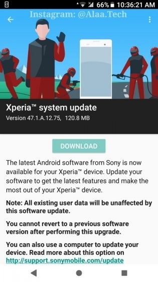 Sony Xperia XZ Premium security update