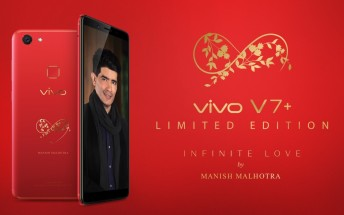 Infinite Red V7+ is vivo's offer for St. Valentine's Day