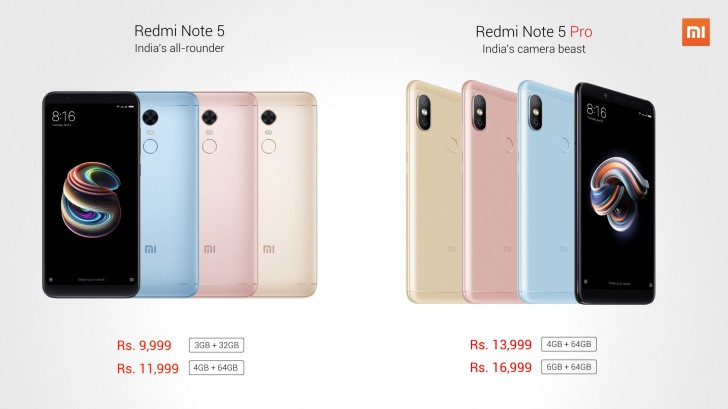 Xiaomi launches Redmi Note 5 and Redmi Note 5 Pro - GSMArena