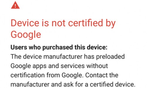 Google cracks down on uncertified Android devices by